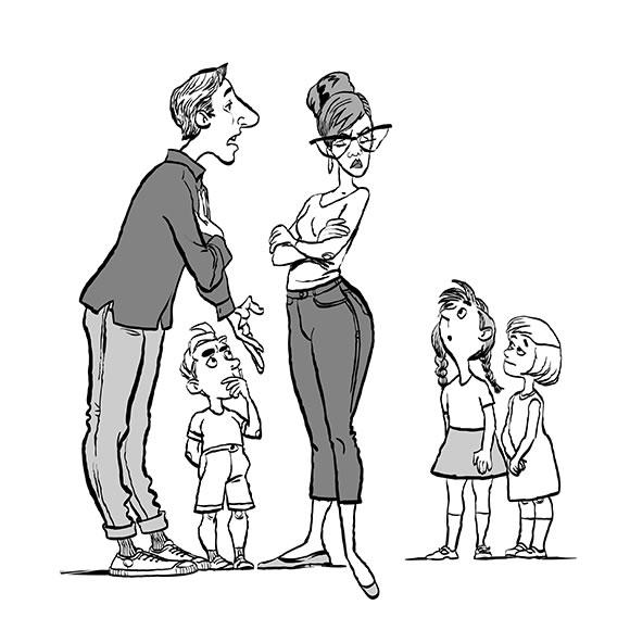conflit famille, enfant, désaccord, communication